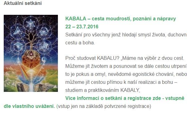 setkání kabala